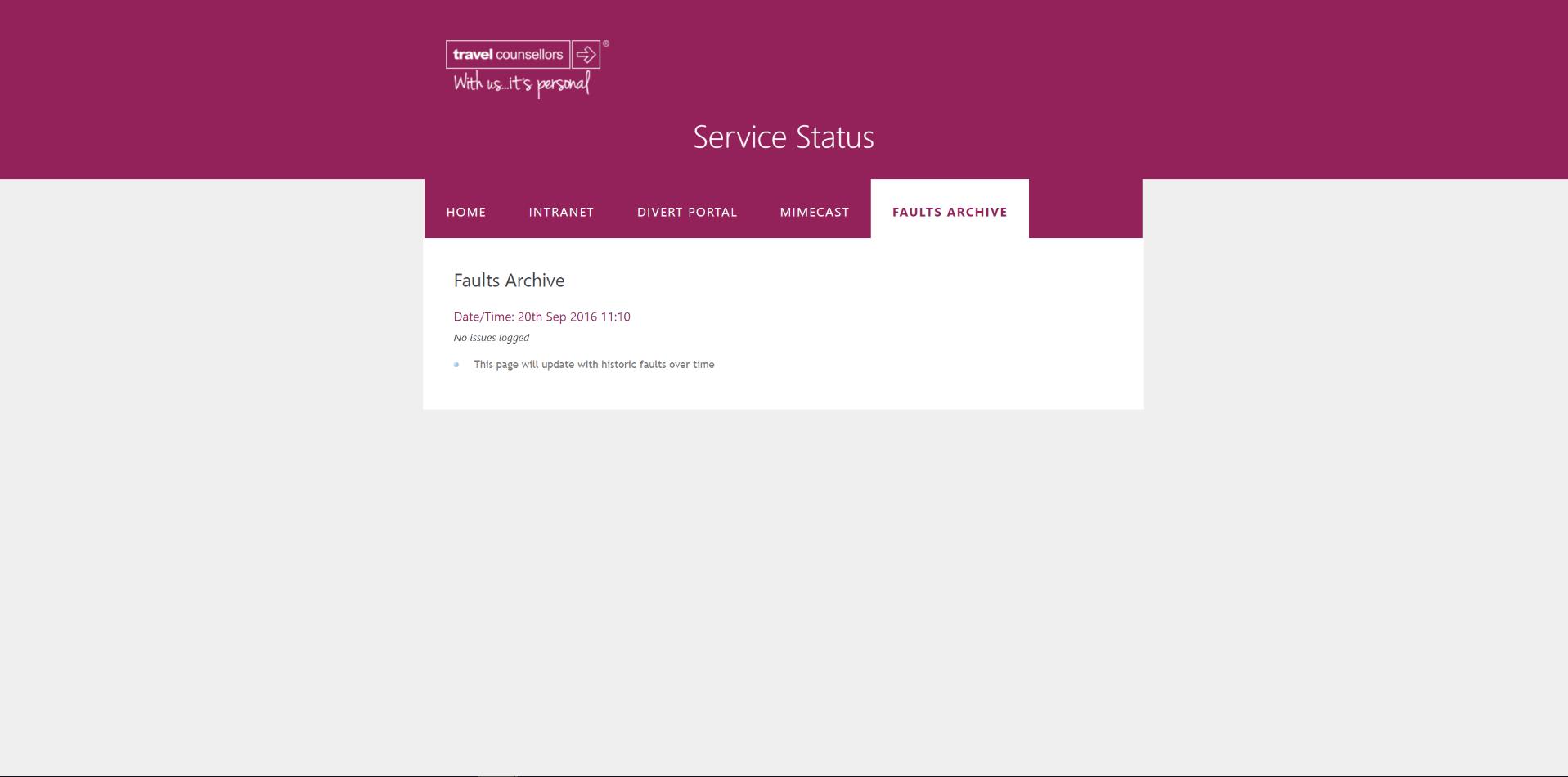 tcservicestatus prospective archive