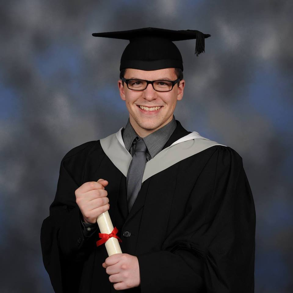 andrew waterhouse graduation photo