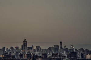 city skyline murky
