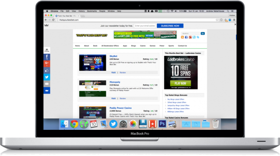 thats your best bet website on mac