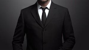 black professional suit