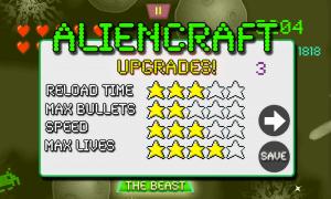 Aliencraft Upgrades Menu
