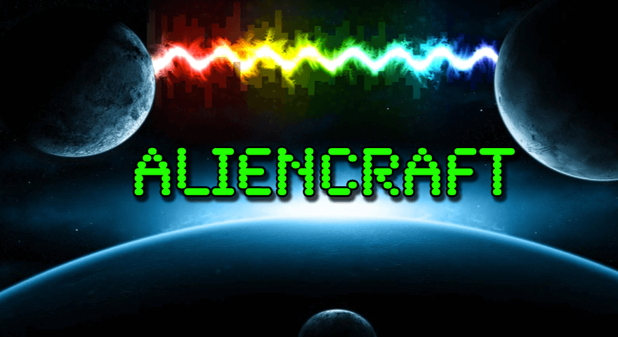 Aliencraft Game Logo