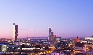 Manchester Skyline 2 300x179 - manchester skyline in evening