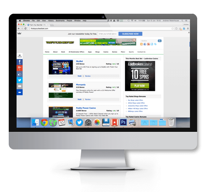 Thats your Best Bet Homepage on Mac