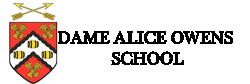 dame alice logo - dame alice owens logo with text
