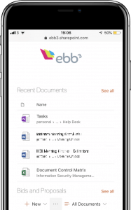 ebb3 intranet on iphone