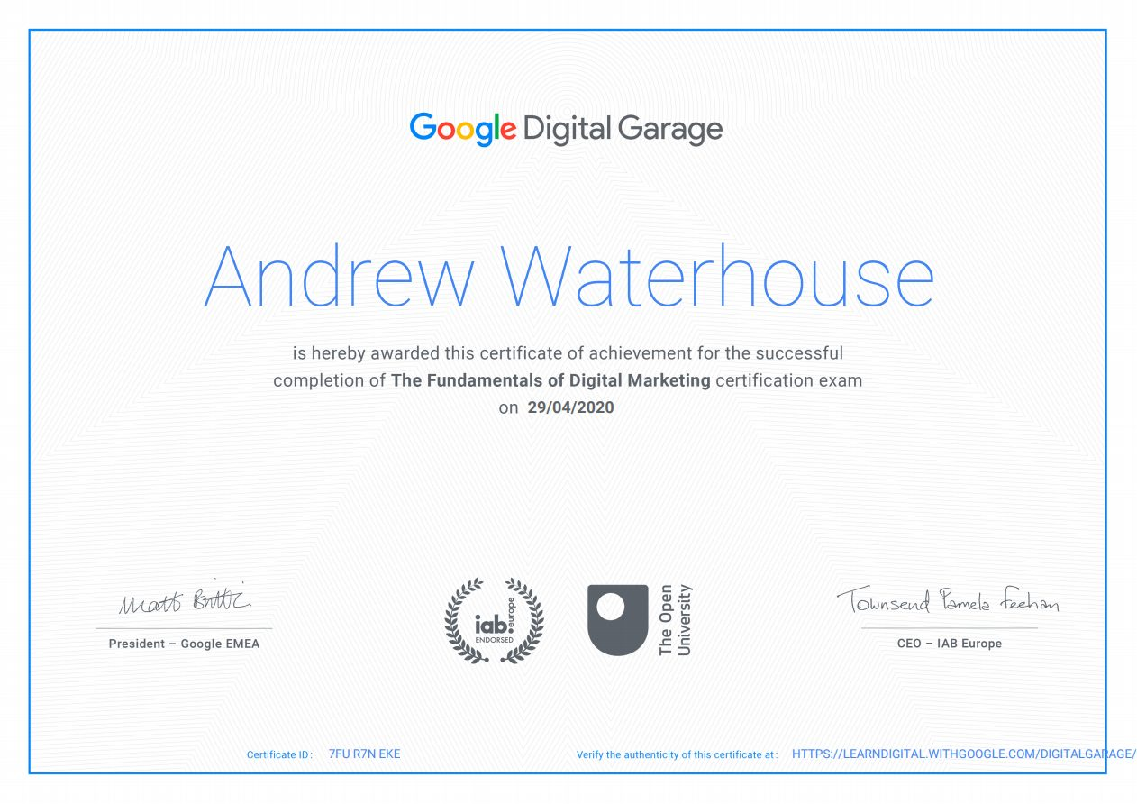 2020 04 29 20 10 13 Digital Garage Certificate - About Me